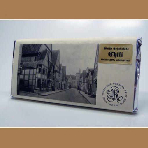Weisse Schokolade Chili