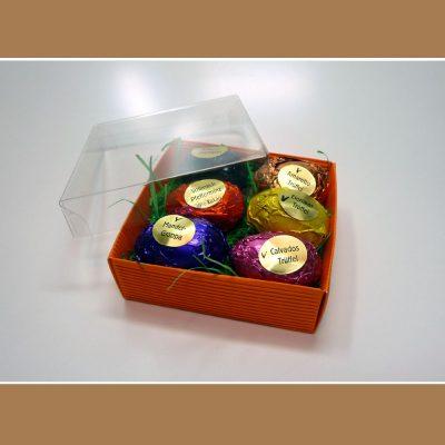 6 Pralinen-Eier in Schachtel