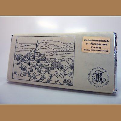 Vollmilch Schokolade Nougat Krokant