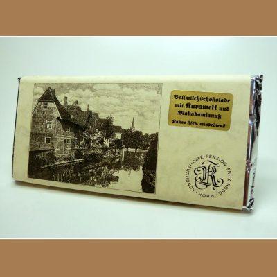 Vollmilch Schokolade Karamell Makadamianuss