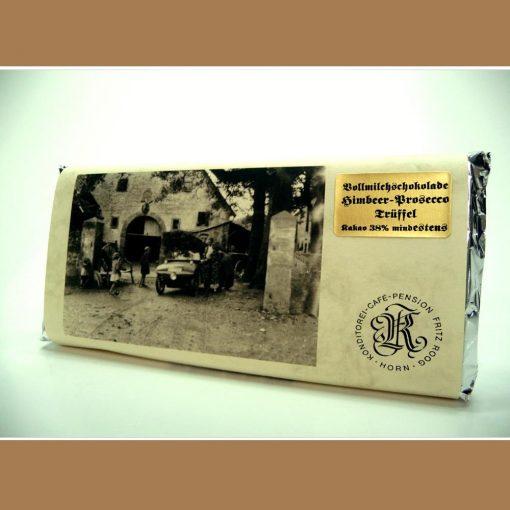 Vollmilch Schokolade Himbeer-Prosecco Trüffel