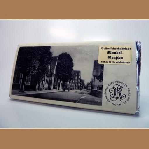 Vollmilch Schokolade Mandel Grappa