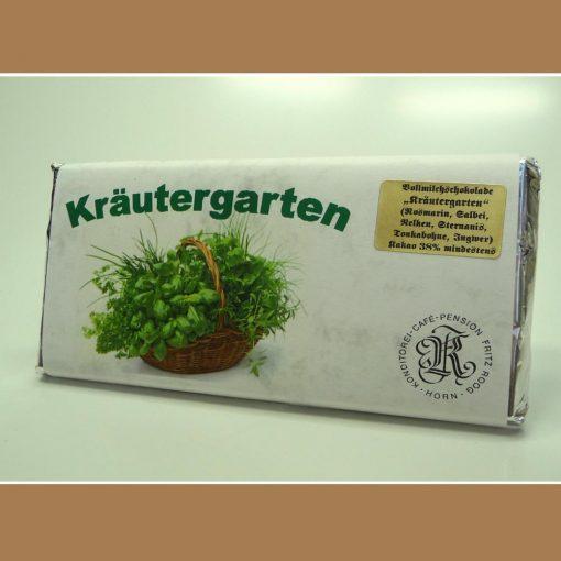 Vollmilch Schokolade Kraeutergarten
