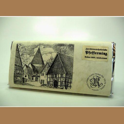 Zartbitter Schokolade Pfefferminz