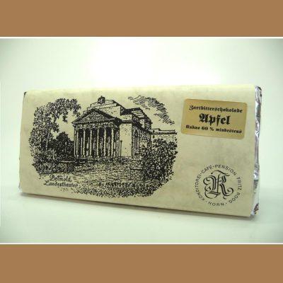 Zartbitter Schokolade Apfel