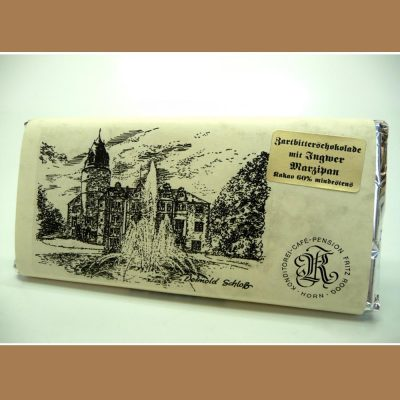 Zartbitter Schokolade Ingwer Marzipan