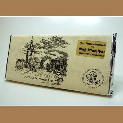 Zartbitter Schokolade Nuss Marzipan