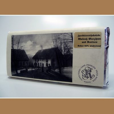 Zartbitter Schokolade Walnuss Marzipan Rosinen