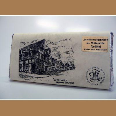 Zartbitter Schokolade Amaretto Trüffel