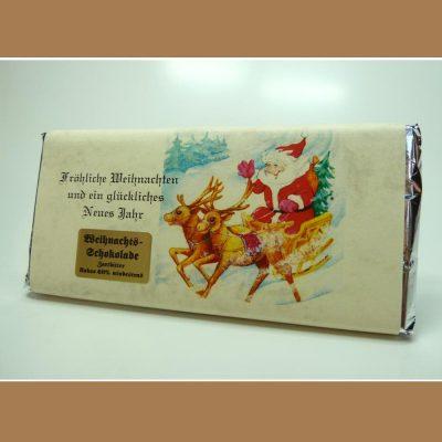 Zartbitter Weihnachtsschokolade