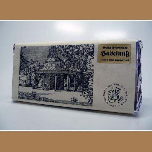Weisse Schokolade Haselnuss