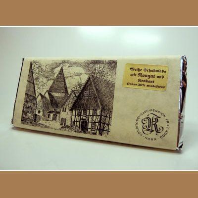 Weiße Schokolade Nougat Krokant