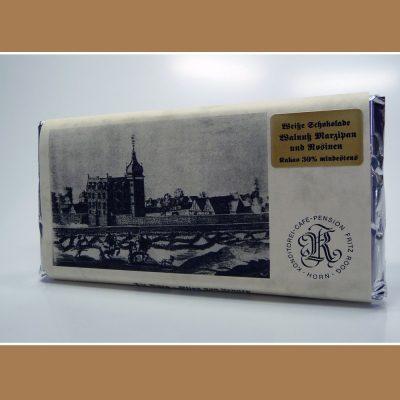 Weisse Schokolade Walnuss Marzipan Rosinen