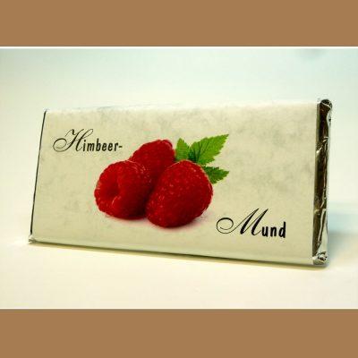 Weiße Schokolade Himbeer Mund