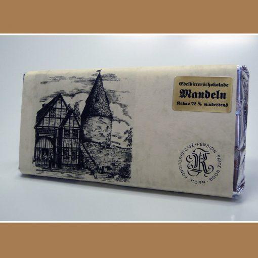 Edelbitter Schokolade Mandeln