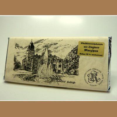 Edelbitter Schokolade Ingwer