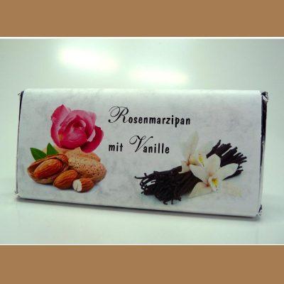 Edelbitter Schokolade Rosenmarzipan Vanille
