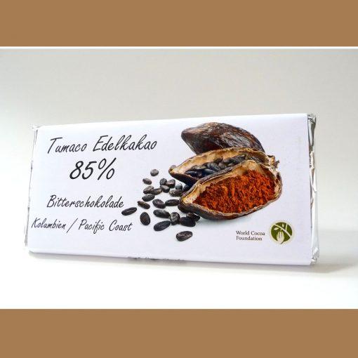 Edelkakao Bitterschokolade Tumaco