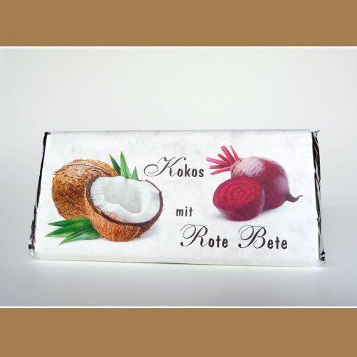 Weiße Schokolade Kokos Rote Bete