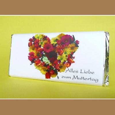 Muttertagsschokolade Alles Liebe